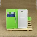 Peněženkové pouzdro pro HTC Desire 601- zelené - 4/6