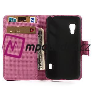 Peněženkové pouzdro pro LG Optimus L5 Dual E455-barevní motýli - 4