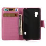 Peněženkové pouzdro pro LG Optimus L5 Dual E455-barevní motýli - 4/5