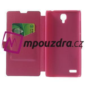 Peněženkové pouzdro na Xiaomi Hongmi Note- růžové - 4