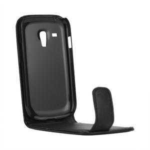Flipové pouzdro pro Samsung Galaxy S3 mini i8190- černé - 4