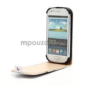 Flipové PU kožené pouzdro pro Samsung Galaxy S3 mini / i8190 - motýlek - 4
