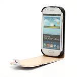 Flipové PU kožené pouzdro pro Samsung Galaxy S3 mini / i8190 - motýlek - 4/6
