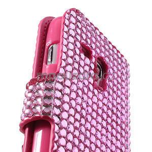 Růžové pouzdro pro Samsung Galaxy S3 mini / i8190 - kamínkové - 4