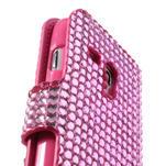 Růžové pouzdro pro Samsung Galaxy S3 mini / i8190 - kamínkové - 4/5
