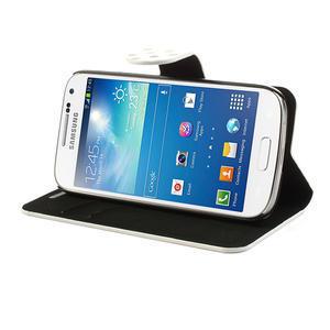 Peněženkové pouzdro na Samsung Galaxy S4 mini i9190- puntíkaté bílé - 4