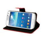 Peněženkové pouzdro na Samsung Galaxy S4 mini i9190- puntíkaté červené - 4/7