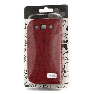 Peněženkové pouzdro na Samsung Galaxy S3 i9300- červené - 4