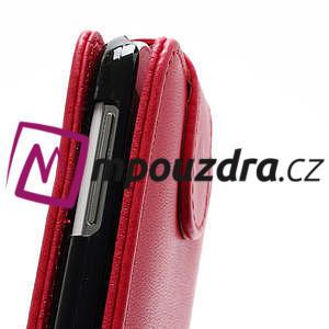 Flipové pouzdro pro Samsung Galaxy S4 i9500- červené - 4