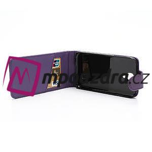 Flipové pouzdro pro Samsung Galaxy S4 i9500-fialové - 4