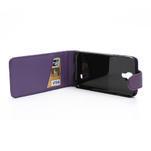Flipové pouzdro pro Samsung Galaxy S4 i9500-fialové - 4/5