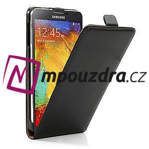 Flipové PU kožené pouzdro na Samsung Galaxy Note 3- černé - 4