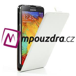 Flipové PU kožené pouzdro na Samsung Galaxy Note 3- bílé - 4
