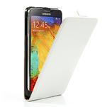 Flipové PU kožené pouzdro na Samsung Galaxy Note 3- bílé - 4/6