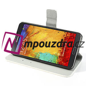 Peněženkové pouzdro na Samsung Galaxy Note 3- barevné květy - 4