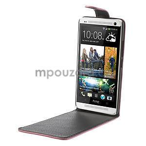 Flipové pouzdro HTC one Max- růžové - 4