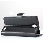Peněženkové PU kožené pouzdro na Alcatel One Touch Idol OT-6030D- černé - 4/6