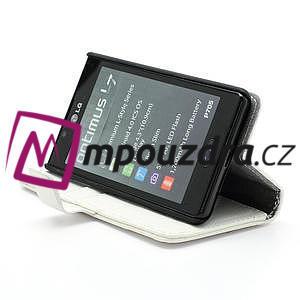 Peněženkové pouzdro na LG Optimus L7 P700 - bílé - 4