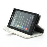 Peněženkové pouzdro na LG Optimus L7 P700 - bílé - 4/7