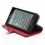 Peněženkové pouzdro na LG Optimus L7 P700 - červené - 4/7