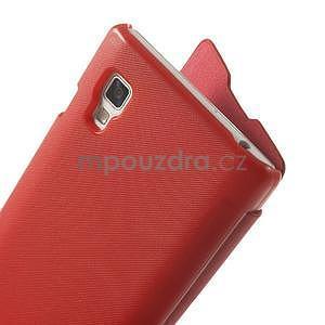 Flipové pouzdro pro LG Optimus L9 P760- červené - 4