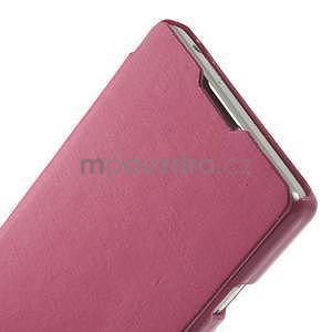 Flipové pouzdro pro LG Optimus L9 P760- růžové - 4