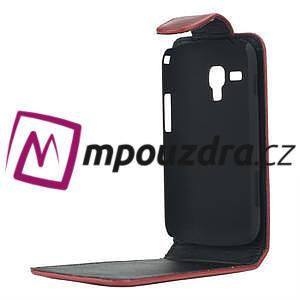 Flipové pouzdro pro Samsung Trend plus, S duos- červené - 4