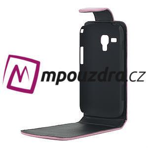 Flipové pouzdro pro Samsung Trend plus, S duos -růžové - 4