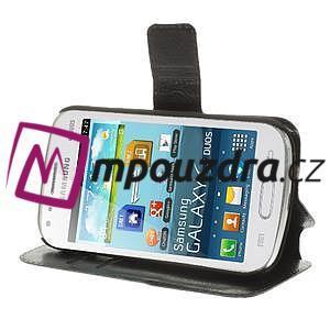 Peněženkové pouzdro na Samsung Trend plus, S duos - černé - 4