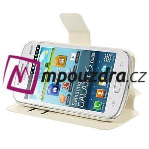 Peněženkové pouzdro na Samsung Trend plus, S duos - bílé - 4