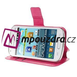 Peněženkové pouzdro na Samsung Trend plus, S duos - růžové - 4