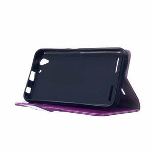 Knížkové PU kožené pouzdro na Lenovo Vibe K5 / K5 Plus - fialové - 4