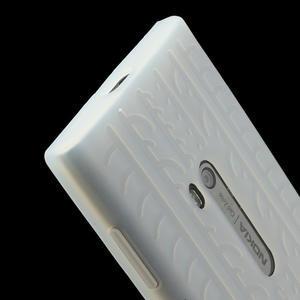 Silokonové PNEU pouzdro na Nokia Lumia 920- bílé - 4
