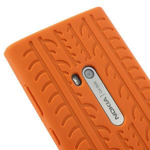 Silokonové PNEU pouzdro na Nokia Lumia 920- oranžové - 4