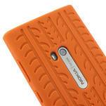 Silokonové PNEU pouzdro na Nokia Lumia 920- oranžové - 4/5