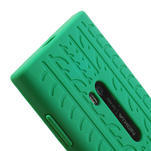 Silokonové PNEU pouzdro na Nokia Lumia 920- zelené - 4/5