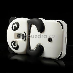3D Silikonové pouzdro pro Samsung Galaxy S3 mini / i8190 - vzor černá panda - 4