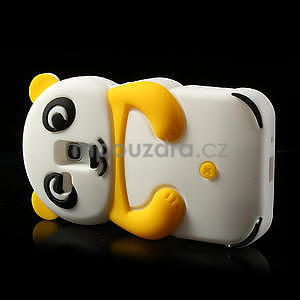 3D Silikonové pouzdro pro Samsung Galaxy S3 mini / i8190 - vzor žlutá panda - 4