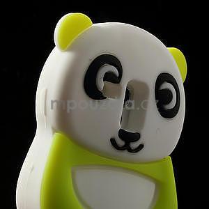 3D Silikonové pouzdro pro Samsung Galaxy S3 mini / i8190 - vzor zelená panda - 4