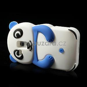 3D Silikonové pouzdro pro Samsung Galaxy S3 mini / i8190 - vzor modrá panda - 4