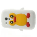 Silikonový TUČŃÁK pouzdro na Samsung Galaxy S3 mini i8190- bílý - 4/7