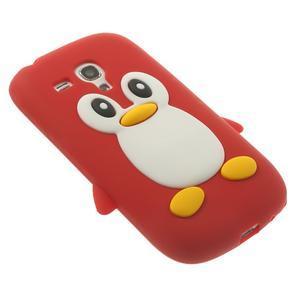 Silikonový TUČŃÁK pouzdro na Samsung Galaxy S3 mini i8190- červený - 4
