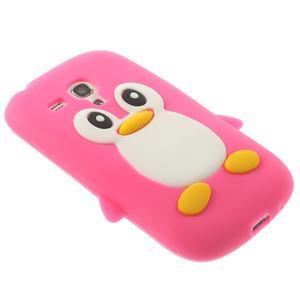 Silikonový TUČŃÁK pouzdro na Samsung Galaxy S3 mini i8190- růžový - 4