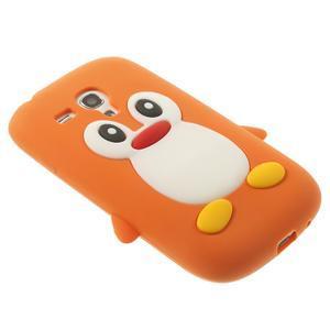 Silikonový TUČŃÁK pouzdro na Samsung Galaxy S3 mini i8190- oranžový - 4