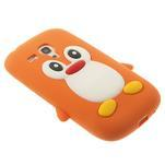 Silikonový TUČŃÁK pouzdro na Samsung Galaxy S3 mini i8190- oranžový - 4/7