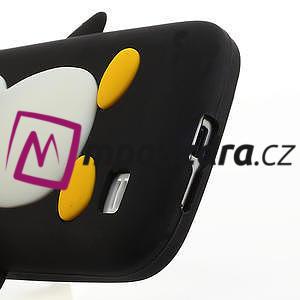 Silikon 3D TUČŇÁK pro Samsung Galaxy S4 mini i9190- černý - 4