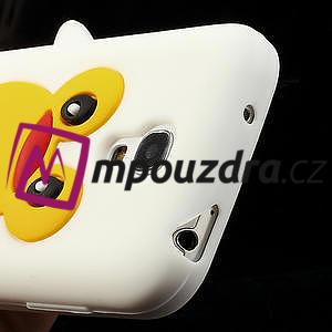 Silikon 3D TUČŇÁK pro Samsung Galaxy S4 mini i9190- bílý - 4