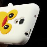 Silikon 3D TUČŇÁK pro Samsung Galaxy S4 mini i9190- bílý - 4/5