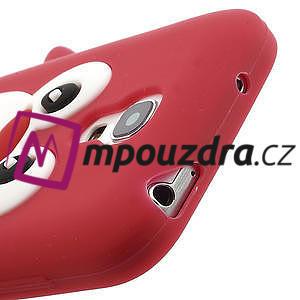 Silikon 3D TUČŇÁK pro Samsung Galaxy S4 mini i9190- červený - 4