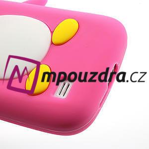 Silikon 3D TUČŇÁK pro Samsung Galaxy S4 mini i9190- růžový - 4